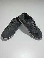 Дышащие кроссовки мужские серые кожзам Sport размер 40,41,42,45
