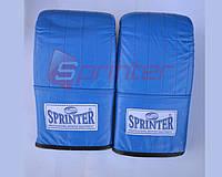 Снарядные перчатки SPRINTER из натуральной кожи р.М синие