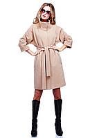 Модное весеннее пальто из кашемира воротник стойка с поясом