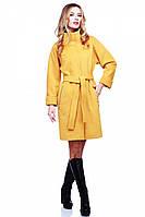 Кашемировое пальто Лили воротник стойка с поясом в модном цвете