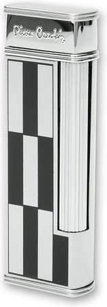Газовая современная зажигалка Pierre Cardin MF-64C-08 черный, белый