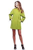 Красивое кашемировое пальто свободного кроя с карманами воротник стойка