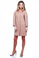 Отличное кашемировое пальто без воротника прямого кроя разных цветов