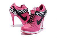 Ботиночки Nike Dunk Low Heels (найк , оригинал)
