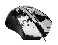 Мышь A4Tech G-Cube GLPS-310 BK черная Paint Splash mouse USB, 1000dpi 4D