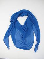 Шифоновая шарф-косынка  голубого цвета