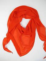 Молодежная шарф-косынка Шифоновая оранжевого цвета
