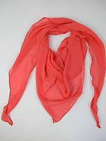 Коралловая шарф-косынка из шифона