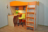 Кровать чердак (лестница, стол,полки)