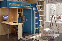 Кровать чердак (стол,лестница,шкаф,полки)