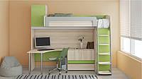Кровать чердак (стол,комод,лестница,защита,ЛДСП,)