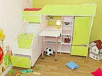 Кровать чердак ( стол, лестница-комод,шкаф)