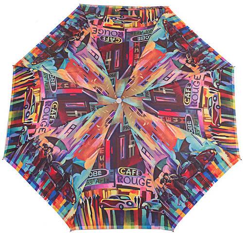 Великолепный женский зонт компактный полуавтомат ZEST (ЗЕСТ), Z23626-7  Антиветер!