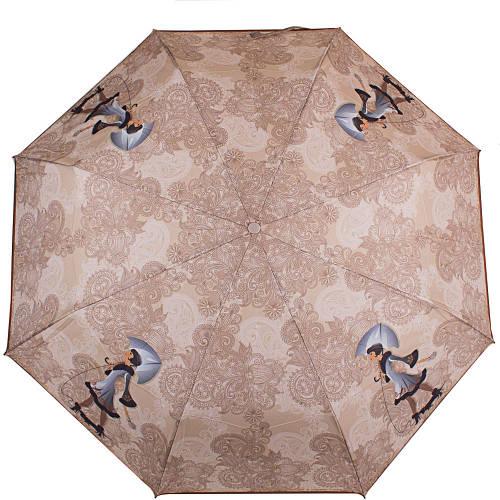 Великолепный женский зонт компактный полуавтомат ZEST (ЗЕСТ), Z23626-10  Антиветер!