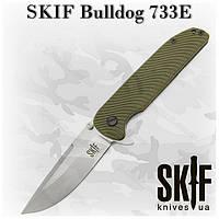 Складной нож  SKIF Bulldog 733E, зеленый, G-10/SF, флиппер, клипса