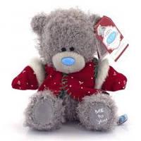 Мишка Teдди  в красной жилетке   Me to you