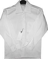 Рубашка белая с длинным рукавом на мальчика 5 -12 лет