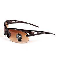 Велосипедные очки коричневые