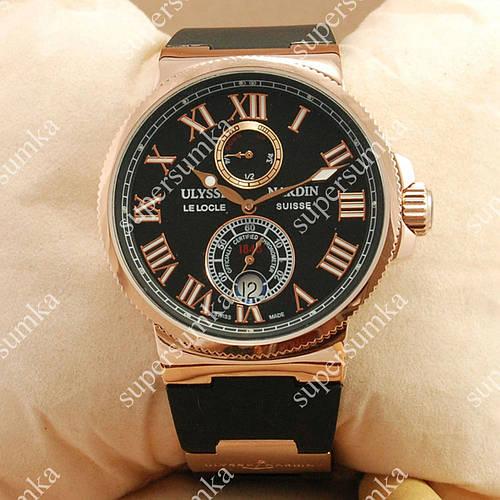 Популярные наручные часы Ulysse Nardin Maxi Marine AAA Black/Gold 2349