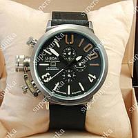 Стильные наручные часы U-boat Italo Fontana Silver-Black 3902