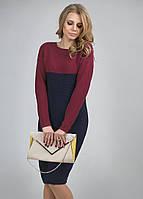 Вязаное платье спущенная линия плеча, свободный длинный рука, фото 1