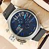 Модные наручные часы U-boat Italo Fontana Silver-Black-blue 3903