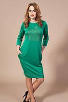 Модное платье со стразами