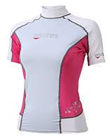 Женская лайкровая футболка для плавания Mares Rash Guard (Trilastic), короткий рукав, розовая