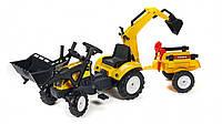 Трактор педальный с 2 ковшами и прицеп Falk RANCH желтый
