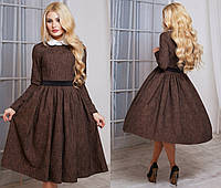 Красивое молодёжное   платье из костюмной ткани