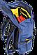 """Красивый городской рюкзак для ноутбука 15,6"""", 23 л. Gud Ranger, 203 темно синий, фото 3"""
