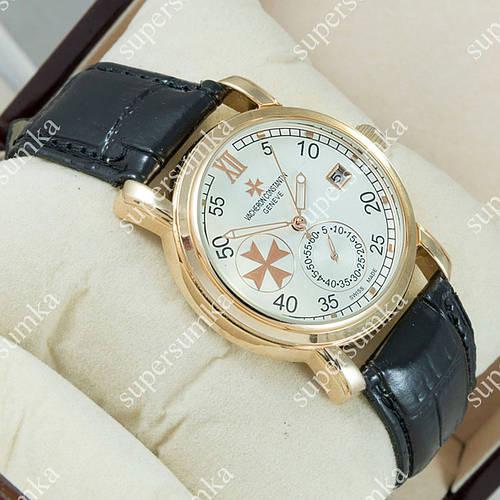 Классические наручные часы Vacheron Constantin Black/Gold/White 2435