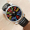 Необычные наручные часы Winner Gaga Style Silver/Black 2501
