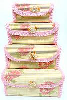 Бамбуковые шкатулки для украшений 4 в 1 AF51-1