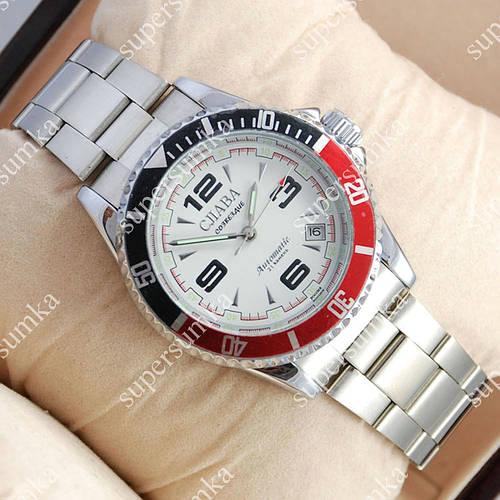Стильные наручные часы Слава Созвездие Mechanic Silver/White 2616