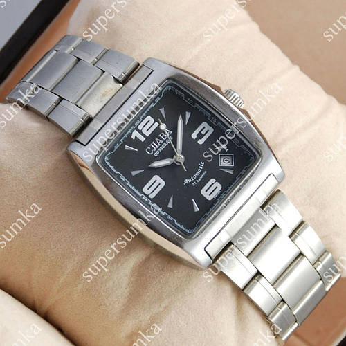 Элегантные наручные часы Слава Созвездие Mechanic Silver/Black 2620