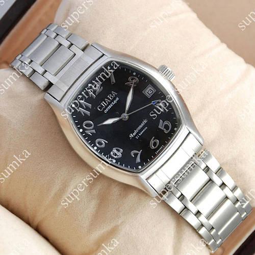 Механические наручные часы Слава Созвездие Mechanic Silver/Black 2621
