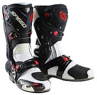 Мотоботы ( Мото ботинки)  Probiker Speed Vortice White