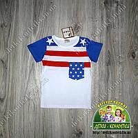 """Футболка детская """"американский флаг"""""""