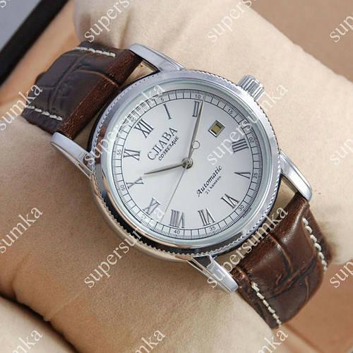 Аналоговые наручные часы Слава Созвездие Mechanic Silver/White 2635