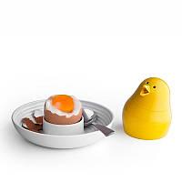 Набор для завтрака и специй Jib-Jib Qualy Белый / Желтый