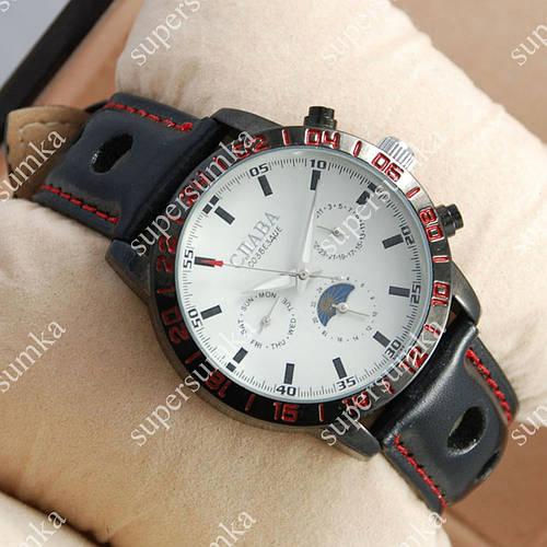 Стильные наручные часы Слава Созвездие Mechanic Black/White 2645