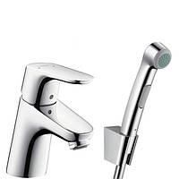 Смеситель Focus E2 31926000 для умывальника с гигиеническим душем. (Hansgrohe - Германия)