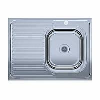 Мойка кухонная  нержавейка 60*80-R Polish (без сифона, врезная, полированная) 0,6мм. (Asil-UA - Украина)