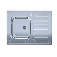 Мойка кухонная  нержавейка 60*80-L Polish (без сифона, врезная, полированная) 0,4мм. (Asil-UA - Украина)