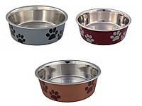 Trixie (Трикси) Stainless Steel Bowl with Plastic Coating Миска из нержавеющей стали с пластиковым покрытием