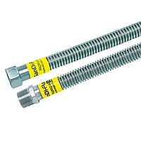 Трубка гофрированная (шланг)  из нержавеющей стали газ  12 мм 1/2 80 (гайка-штуцер)  (Sandi Flex - Китай)