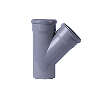 Тройник канализационный 45° 110х110х110 (2рез) (Интерпласт - Украина)