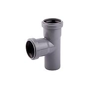 Тройник канализационный 90° 110 х50х110 (1рез+1рез) (Интерпласт - Украина)