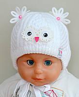 """Детская зимняя шапка """"Малыш"""" для новорожденных (белый)"""